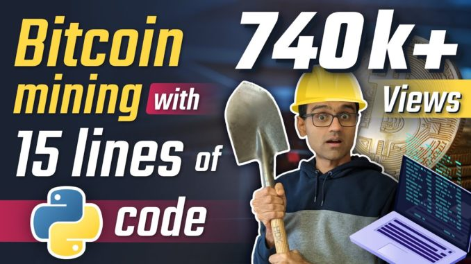 Bitcoin mining with 15 lines of python code   Python Bitcoin Tutorial