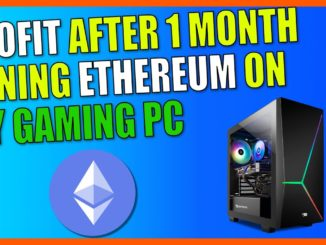 Profit After 1 Month Mining Ethereum ETH On My Gaming PC   Crypto Mining